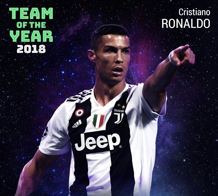 新纪录!C罗13次入选欧足联年度最佳阵容