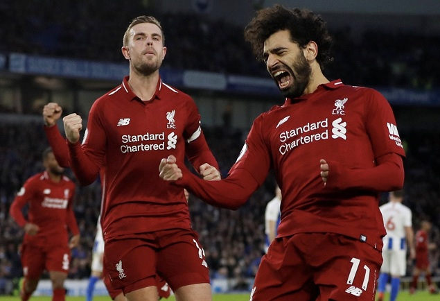 萨拉赫造点+点射破门,利物浦客场1-0赛季双杀布莱顿