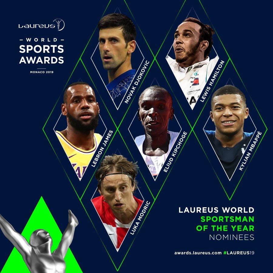 勒布朗-詹姆斯获得劳伦斯奖年度最佳男运动员提名