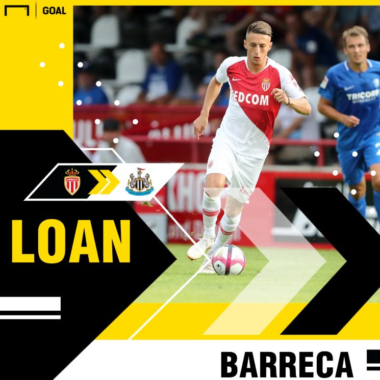 官方:摩纳哥后卫安东尼奥- 巴雷卡租借加盟