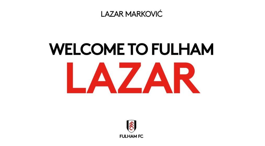 官方:富勒姆和马尔科维奇签约至赛季末