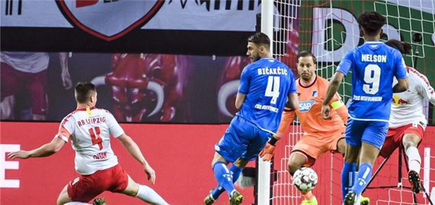 德甲:克拉马里奇破门奥尔班绝平,莱比锡1-1霍芬海姆