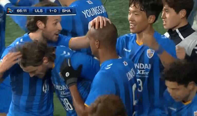 GIF:内甘破门,上港0-1落后蔚山现代