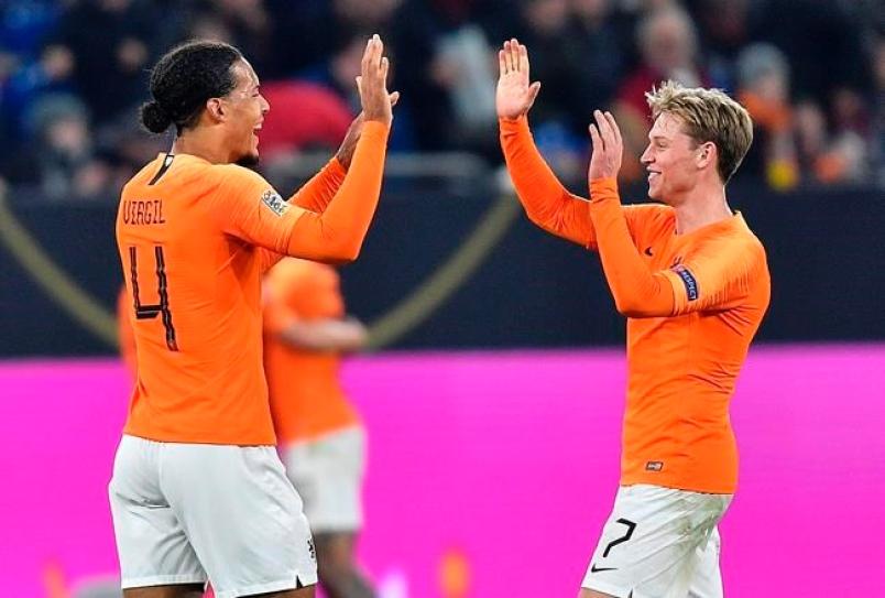 7500万欧,德容与范戴克并列荷兰球员历史身价第一