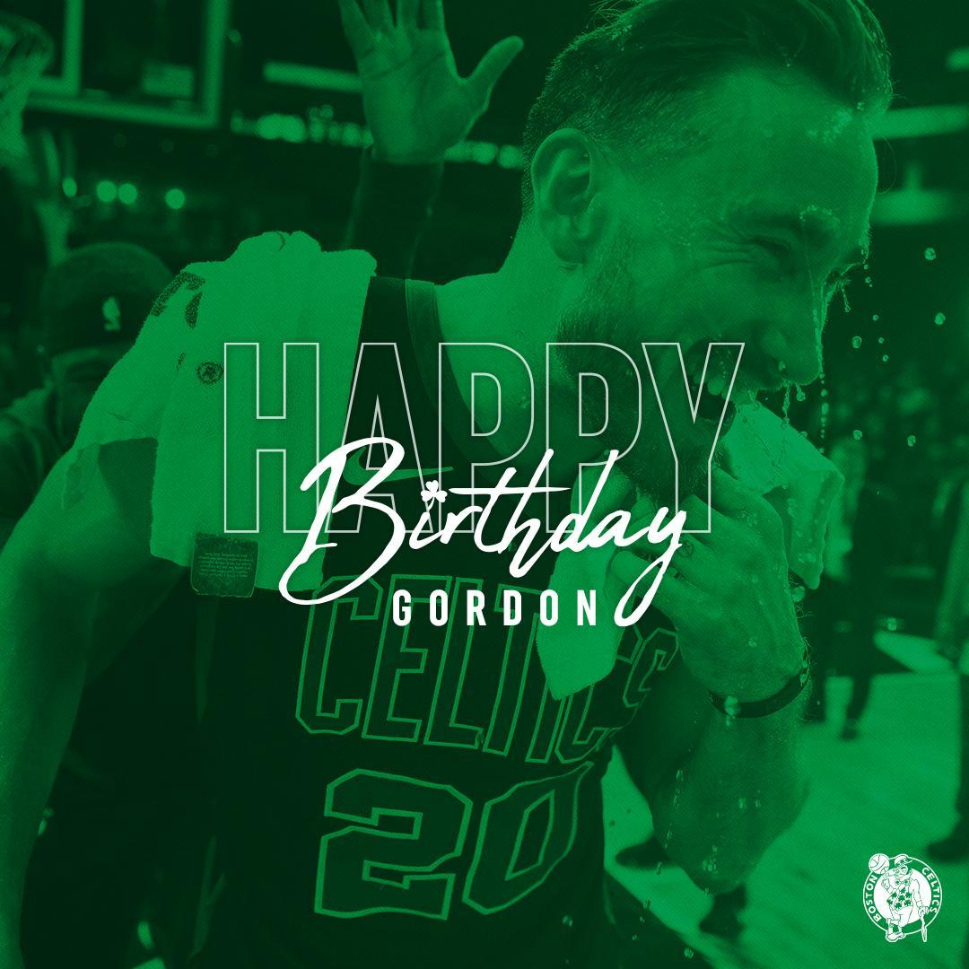 凯尔特人官方祝戈登-海沃德29岁生日快乐