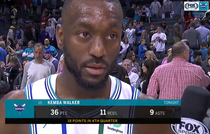沃克:保持侵略性,很幸运今晚的投篮都进了
