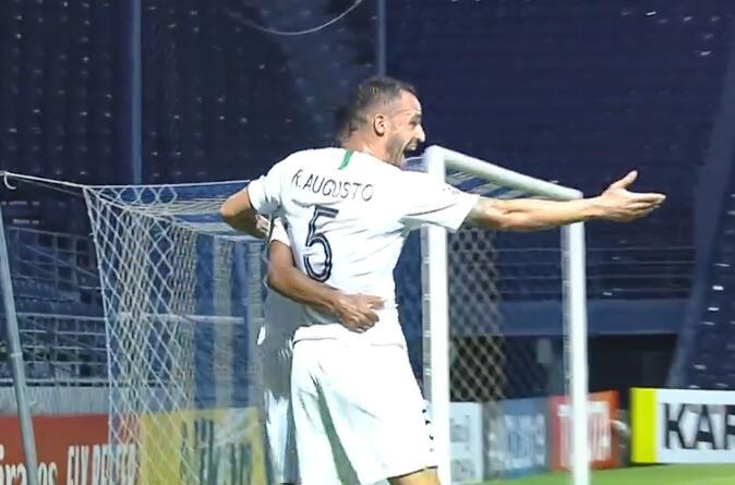 GIF:巴坎布梅开二度!国安2-0武里南联