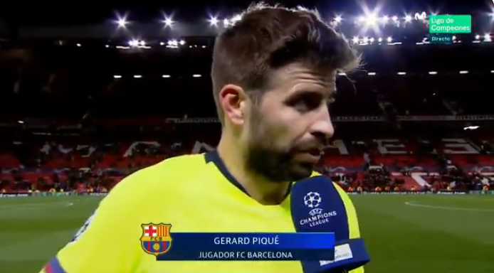 皮克:曼联很伟大,次回合比赛他们完全有机会  第1张