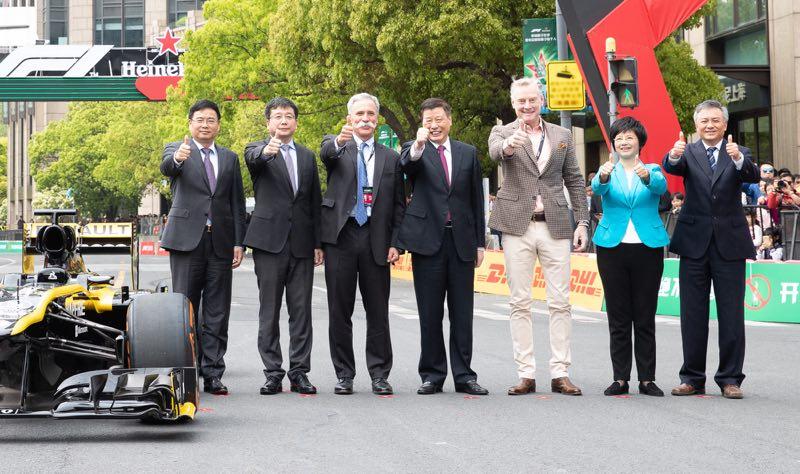 上海迎来F1第一千场大奖赛 V8引擎响彻新天地