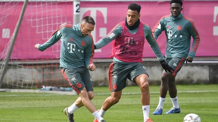好消息,里贝里和托利索恢复拜仁慕尼黑合练