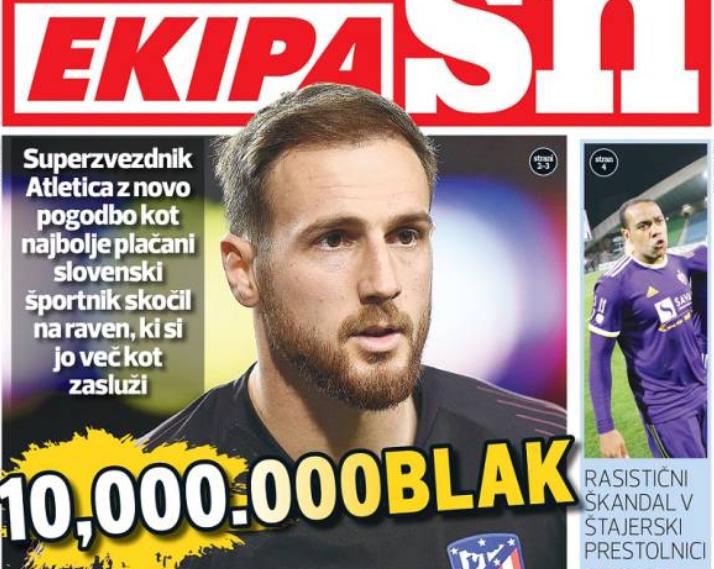 奥布拉克薪水1000万欧,超德拉季奇列斯洛文尼亚第一