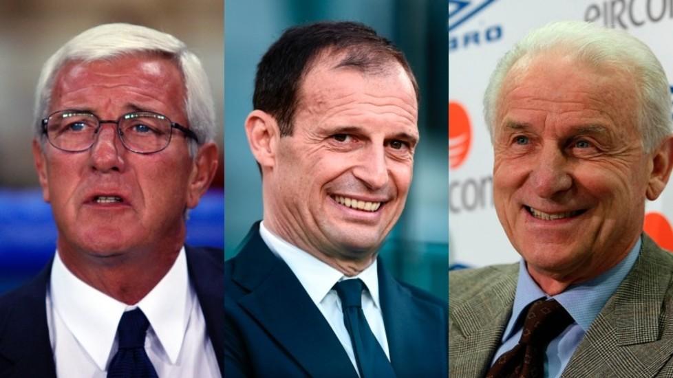 意甲教练历史第一人,阿莱格里连续5年夺得联赛冠军