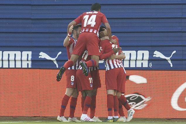 勒马尔替补破门制胜莫拉塔失良机,马竞客场1-0埃瓦尔