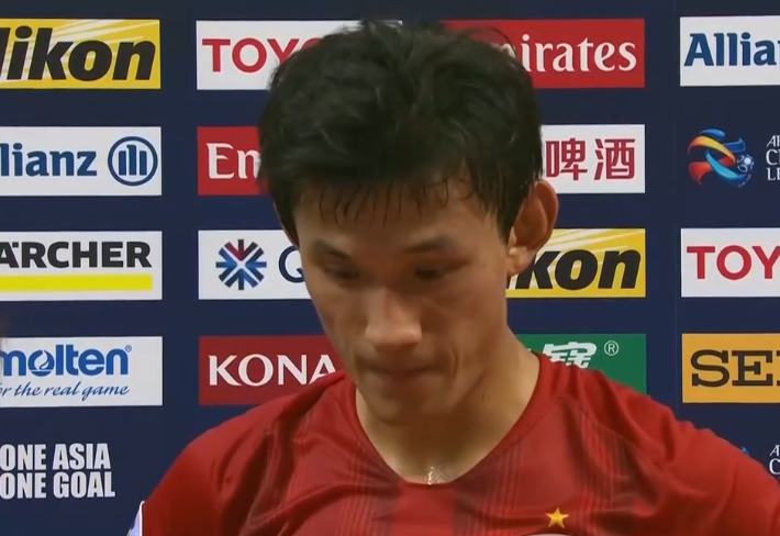 王燊超:进球后思想比较松懈,给对方抓住几次机会