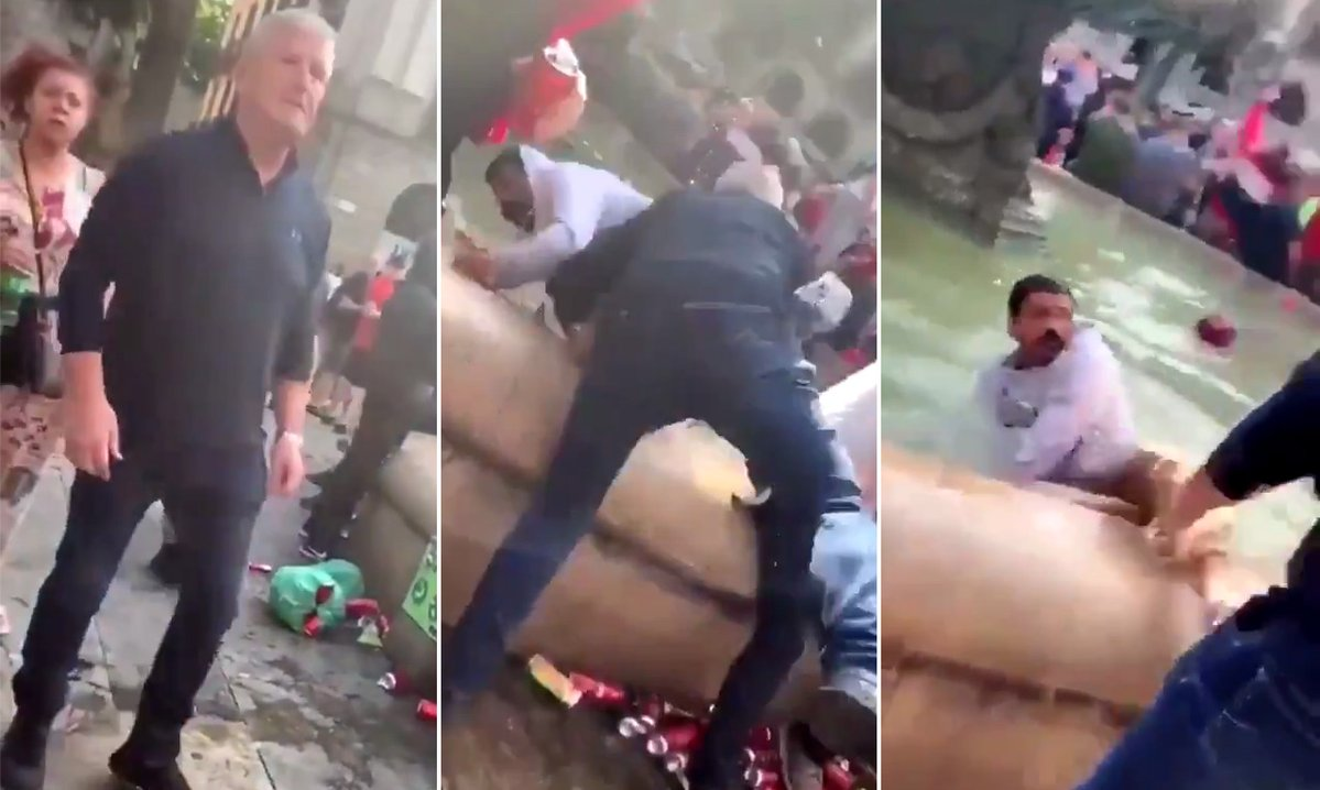 利物浦球迷酒后大闹巴塞罗那,6人被警方逮捕