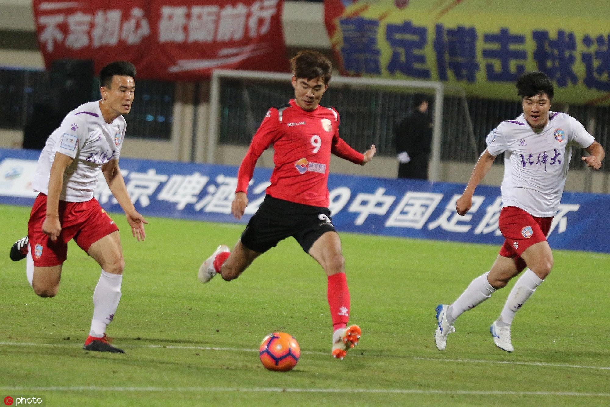 足协杯:李铖一球制胜,业余队嘉定城发1-0裁汰北体大