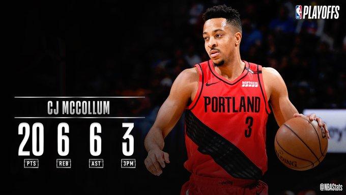 NBA官方评选今日最佳数据:麦科勒姆20+6+6当选