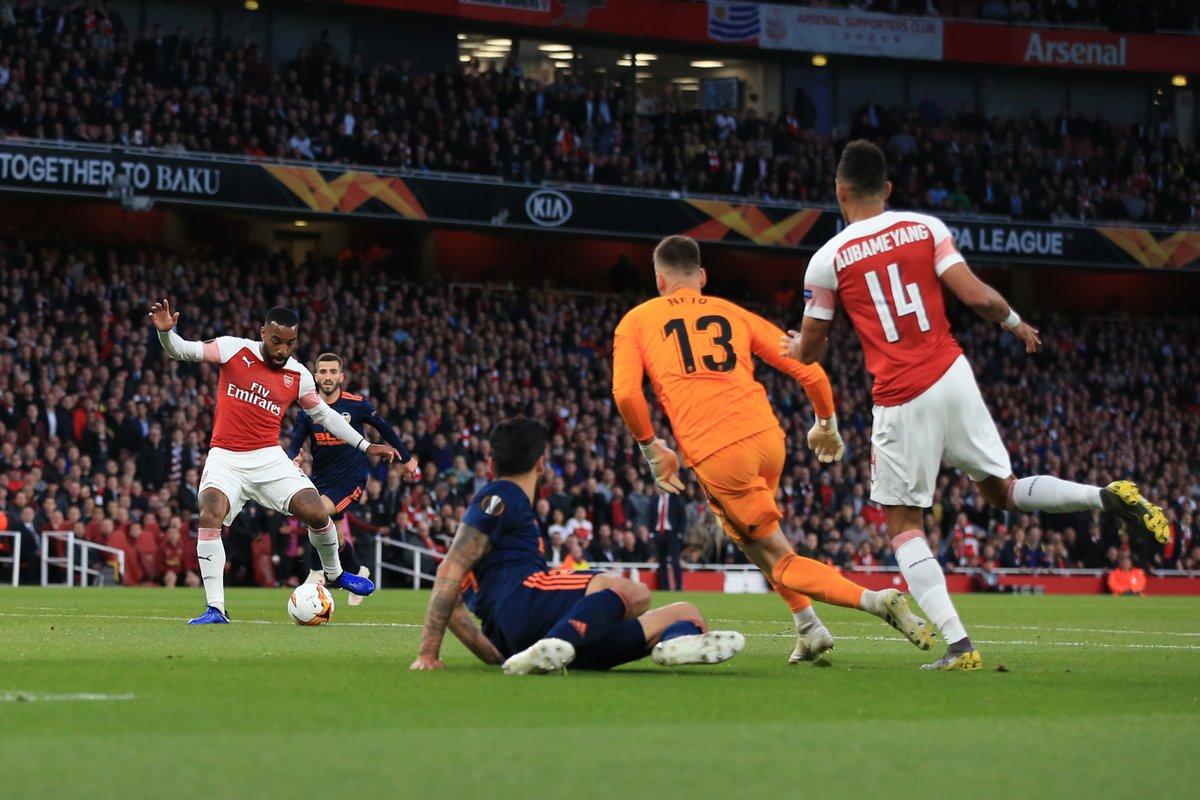 GIF:拉卡泽特与奥巴梅扬配合破门,阿森纳扳平比分