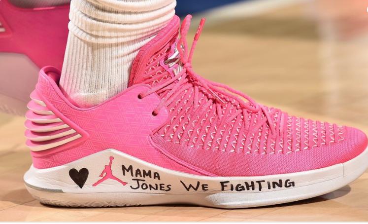 暖心!巴特勒球鞋寄语,鼓励前队友泰厄斯-琼斯母亲抗癌