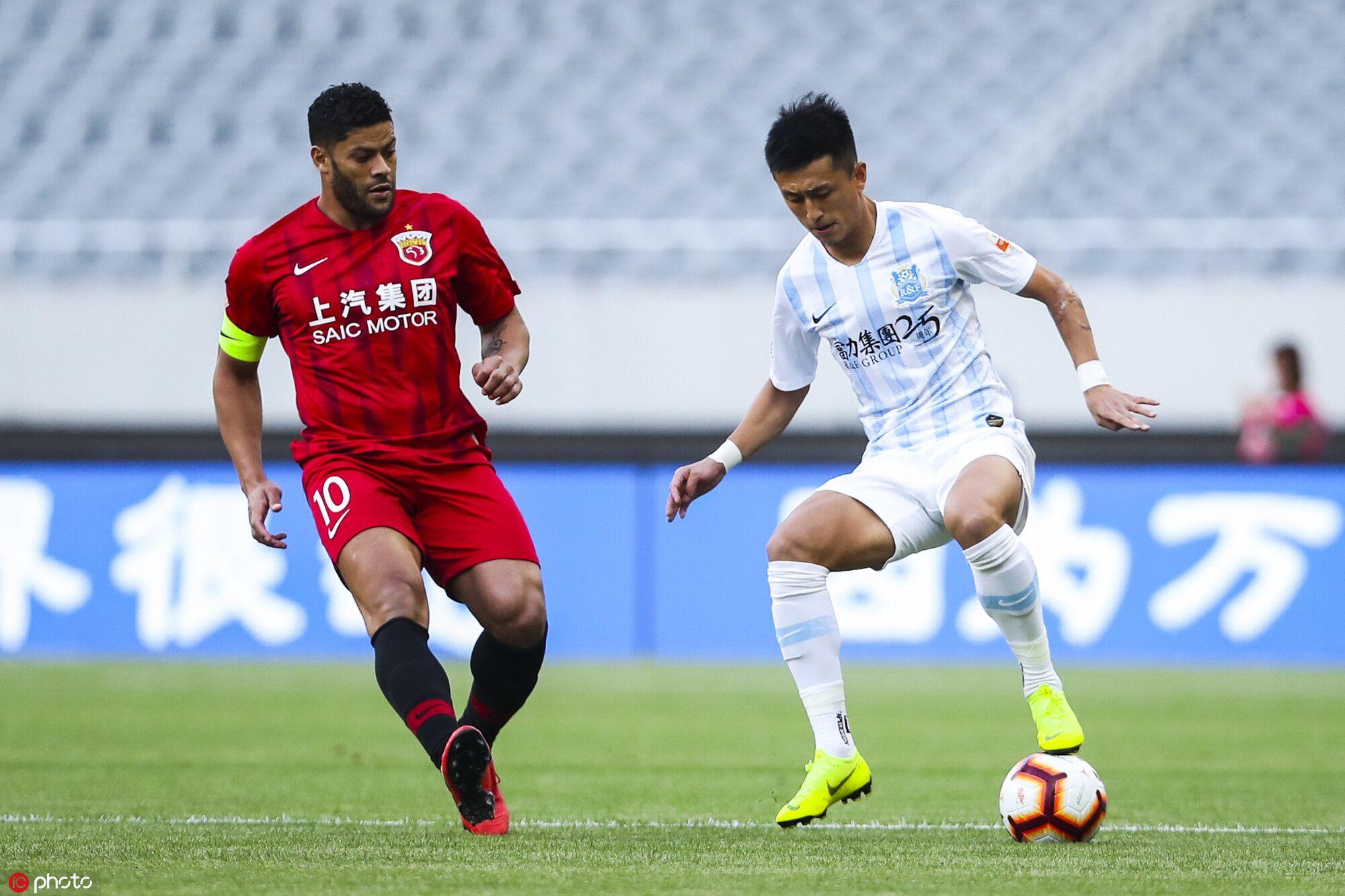 半场:扎哈维造威胁吕文君伤退,上港0-0富力