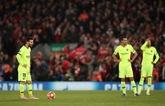 巴萨利物浦一战苏亚雷斯跑动少于往常,特狮破赛季纪录