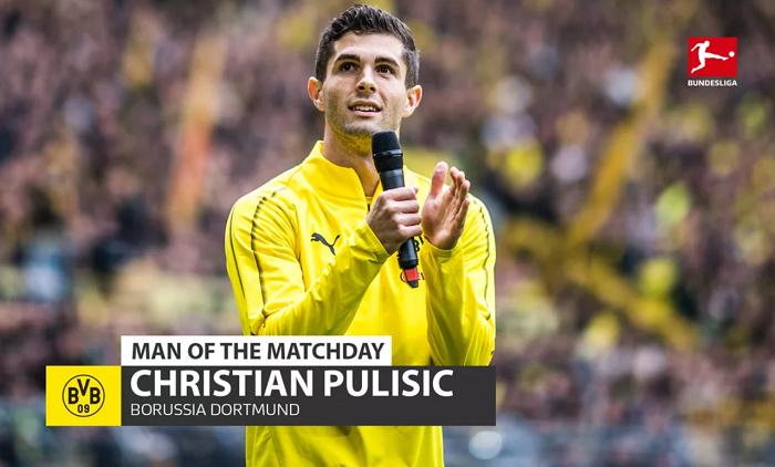 主场告别战进球,普利西奇当选德甲本轮最佳球员