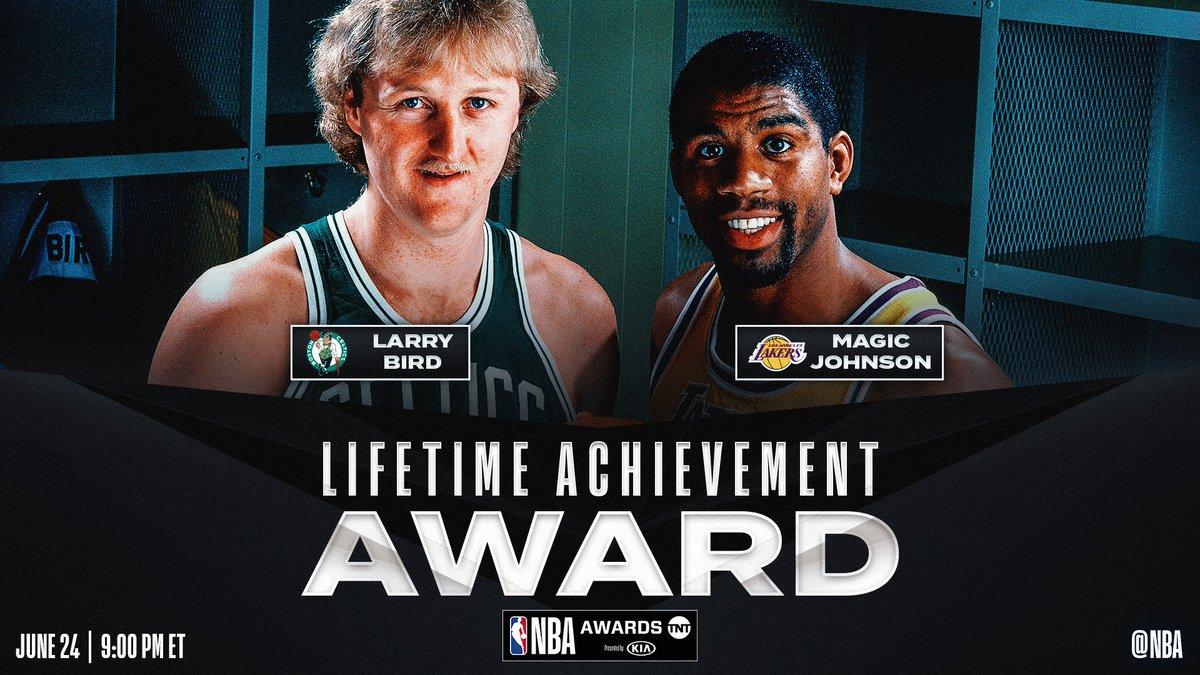 官方:伯德与魔术师被授予2019年NBA终身成就奖