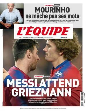 队报:巴黎已和格列兹曼的经纪人和律师有过接触