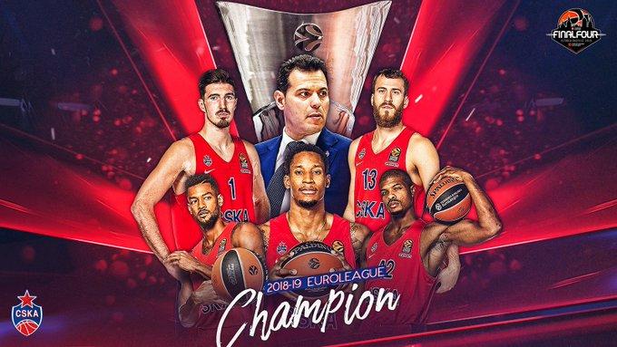 莫斯科中间陆军制服艾菲斯获得今年男篮欧冠冠军