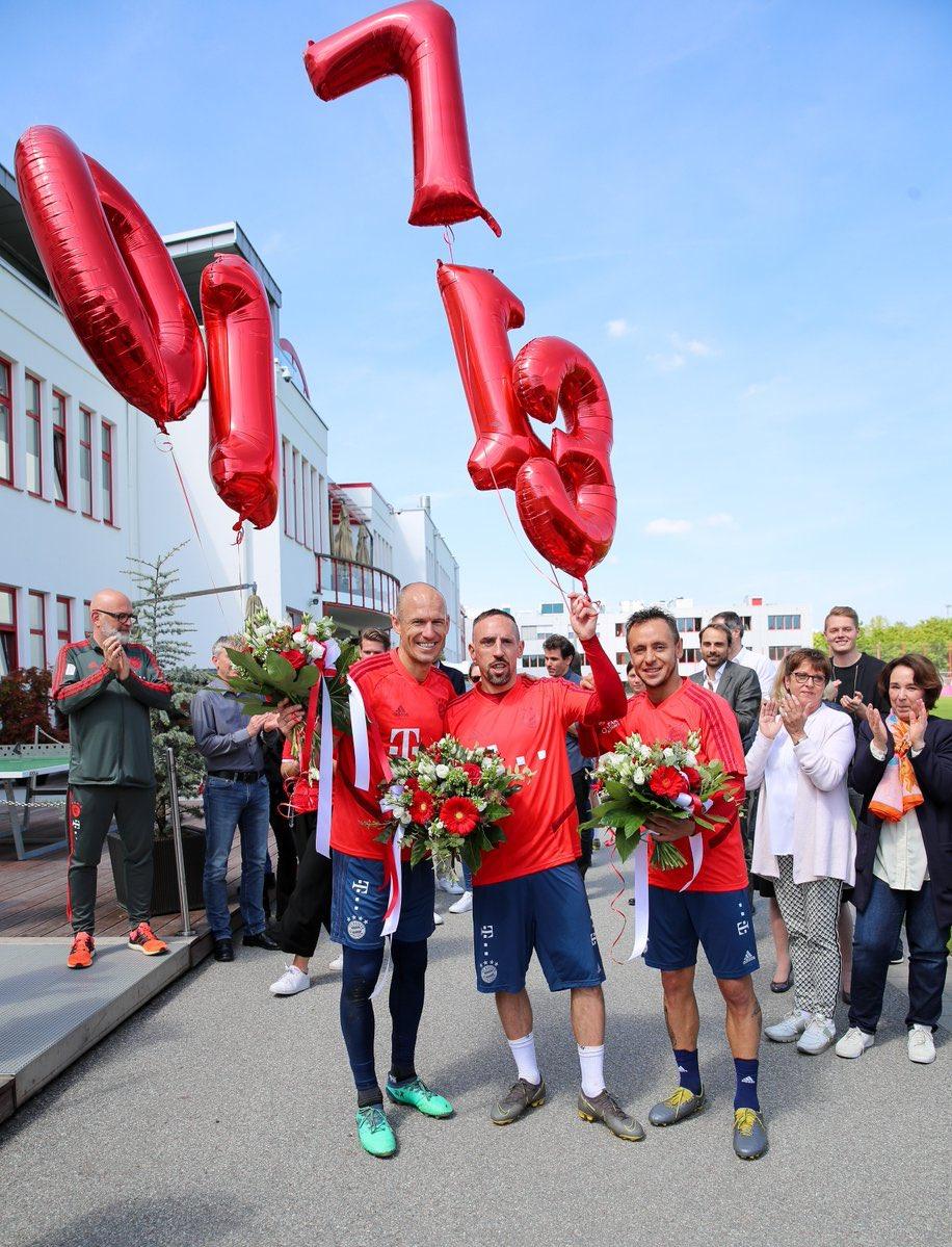 再见了塞贝纳大街, 里贝里发推纪念在拜仁的最后一练