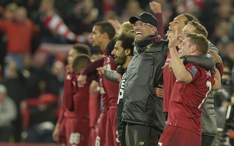 邮报:若红军登顶欧冠,总奖金分成将达近1亿英镑