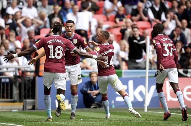 英冠附加赛:加齐麦金破门, 维拉 2-  1德比郡成功冲超