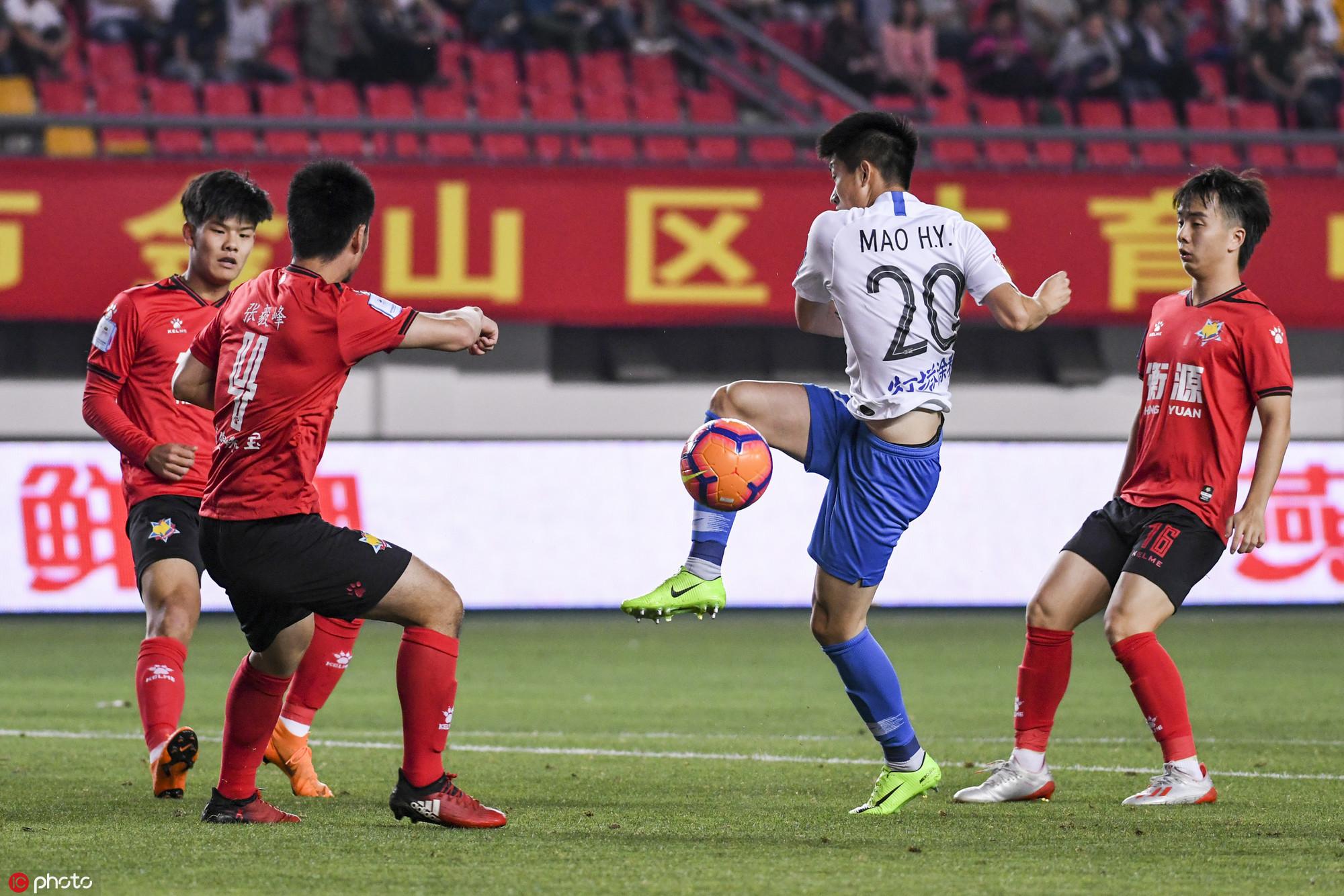 足协杯:张池明荣昊破门彭鹏送礼,申鑫2-3遭泰达反转