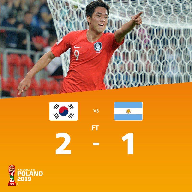 韩国胜阿根廷近6届世青赛5进裁减赛,葡萄牙出局