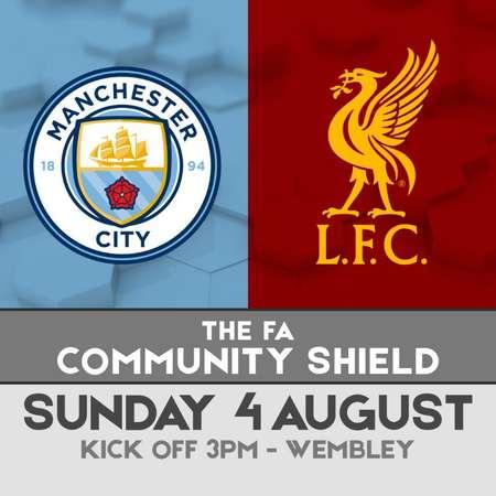 官方:社区盾杯曼城vs利物浦时间确定,8月4日晚上10时