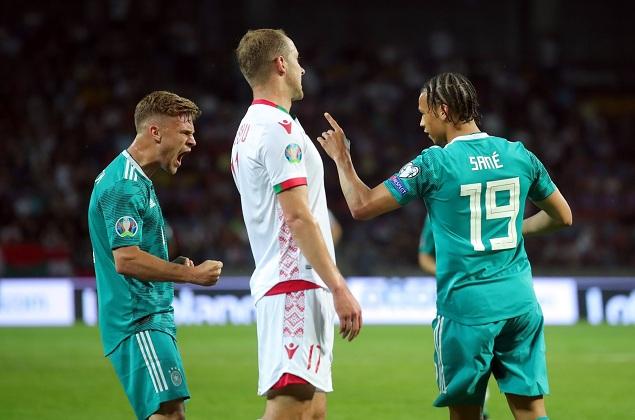 欧初赛:萨内破门 中柱罗伊斯建功,德国2-0白俄罗斯