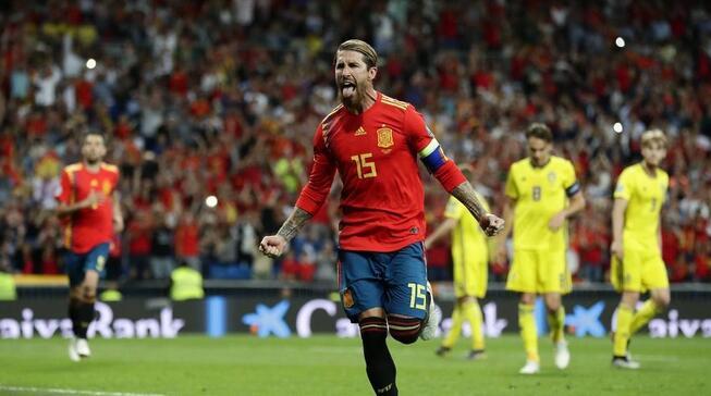 欧初赛:拉莫斯点射破僵莫拉塔定胜局,西班牙3-0瑞典