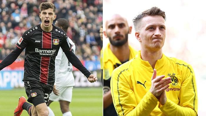 踢球者评选德甲赛季最佳球员:哈弗茨力压斯当选