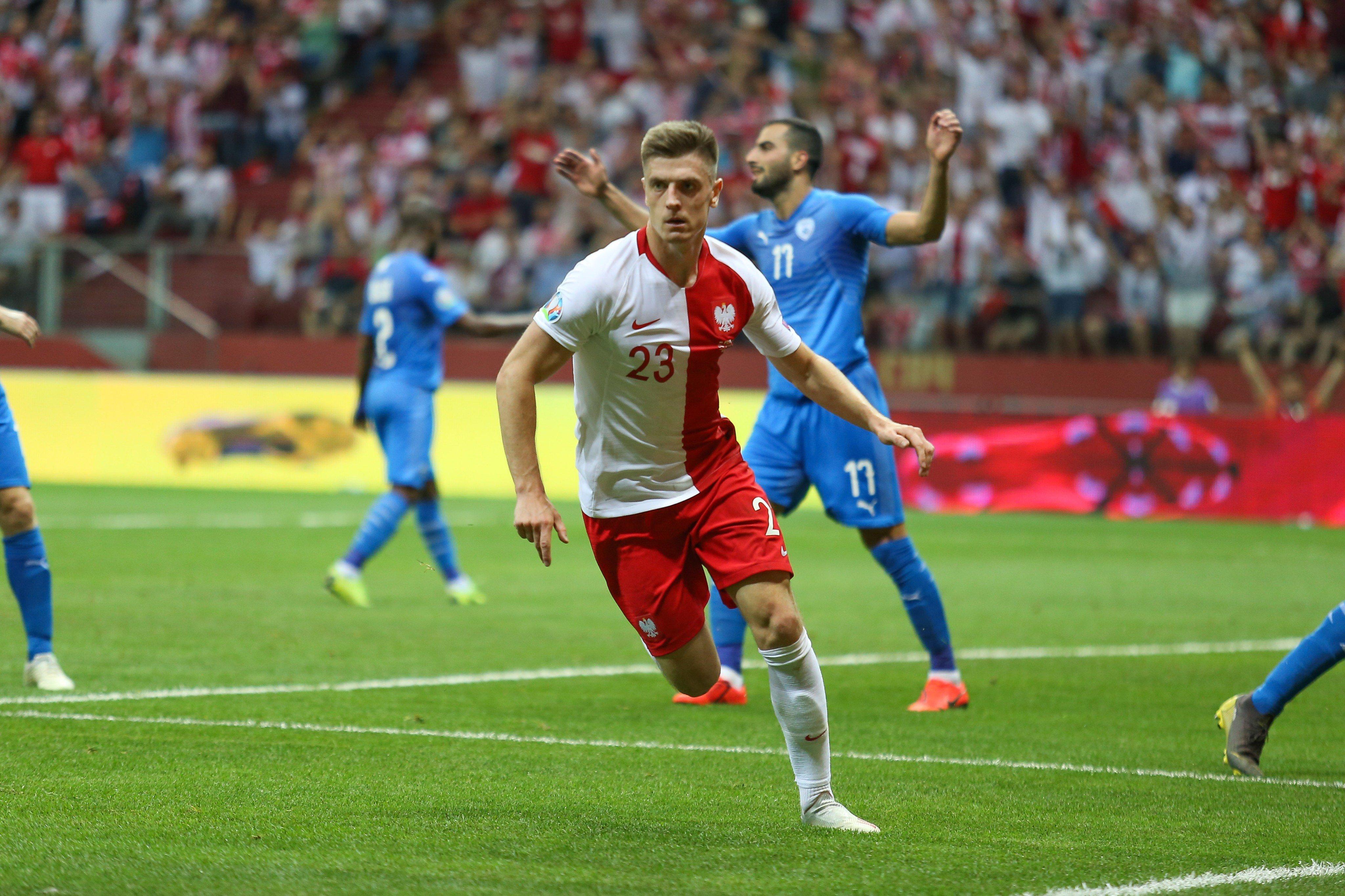 皮亚特克莱万破门,波兰4-0以色列欧初赛4战全胜