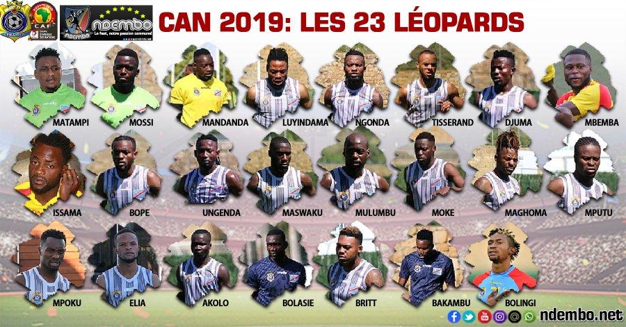 民主刚果非洲杯大名单:巴坎布领衔, 博拉谢在列