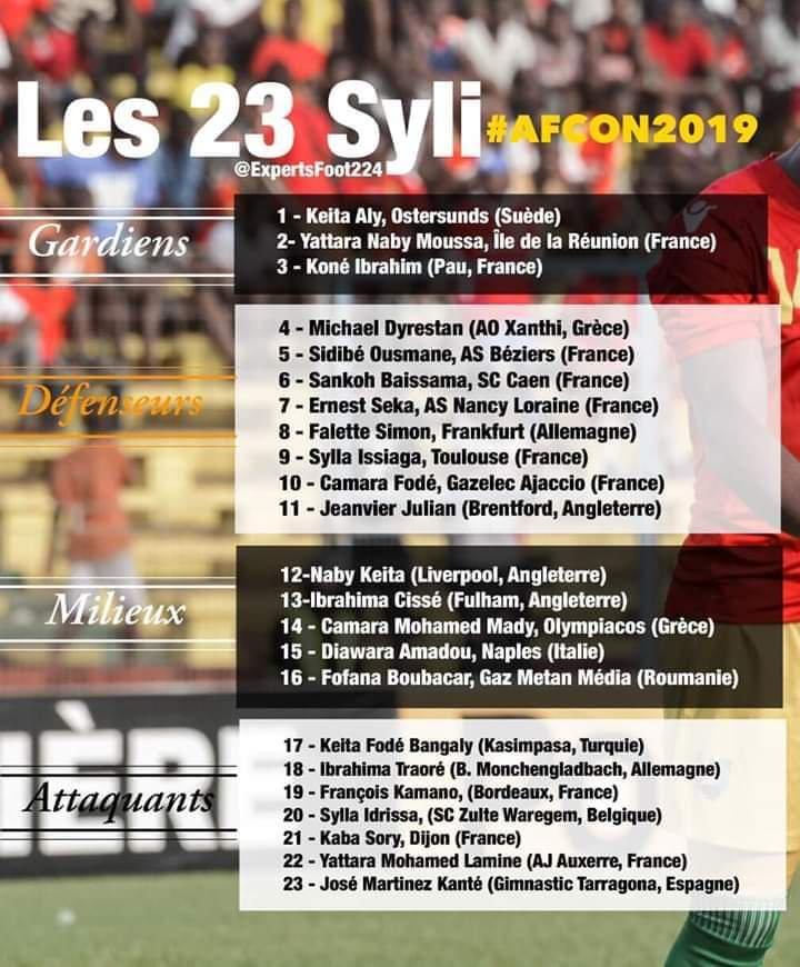 几内亚非洲杯名单:纳比- 凯塔带伤入选, 迪亚瓦拉在列