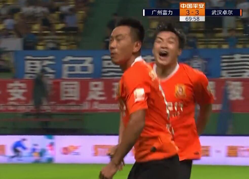 GIF:小编跟不上了!宋志伟扳平,富力3-3卓尔