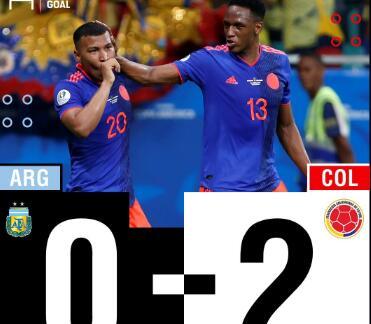 WhoScored阿根廷vs哥伦比亚:R马最高,阿根廷平分6.3