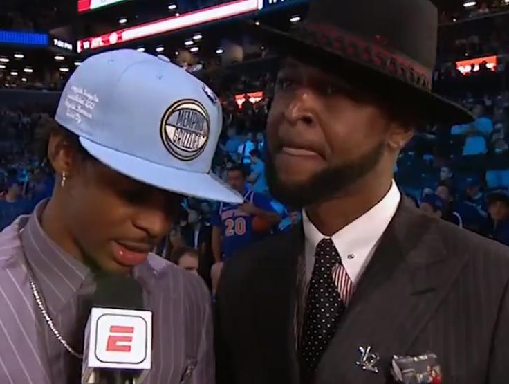 莫兰特:进NBA对吾们父子意味远大,父亲造就了今天的本身