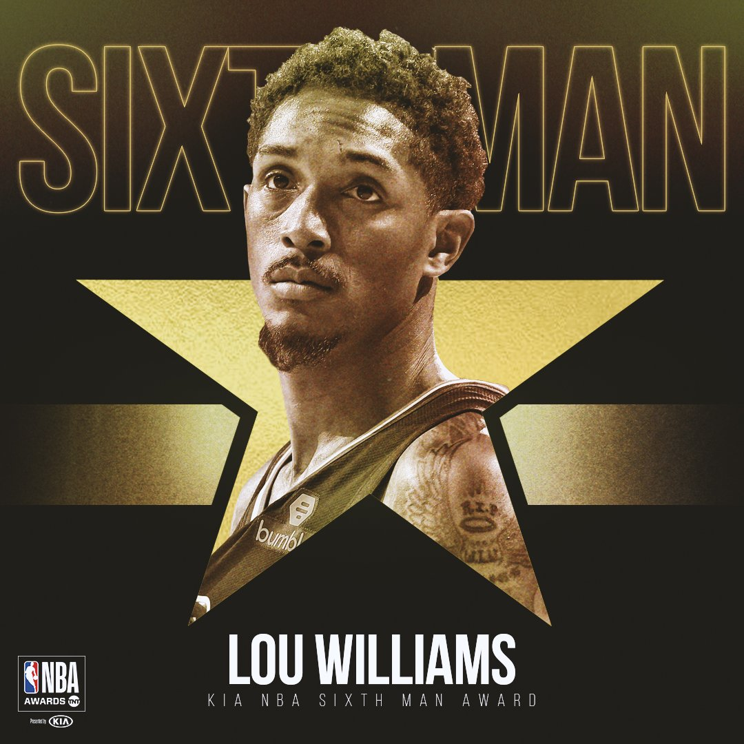 路易斯-威廉姆斯当选2018-19赛季最佳第六人