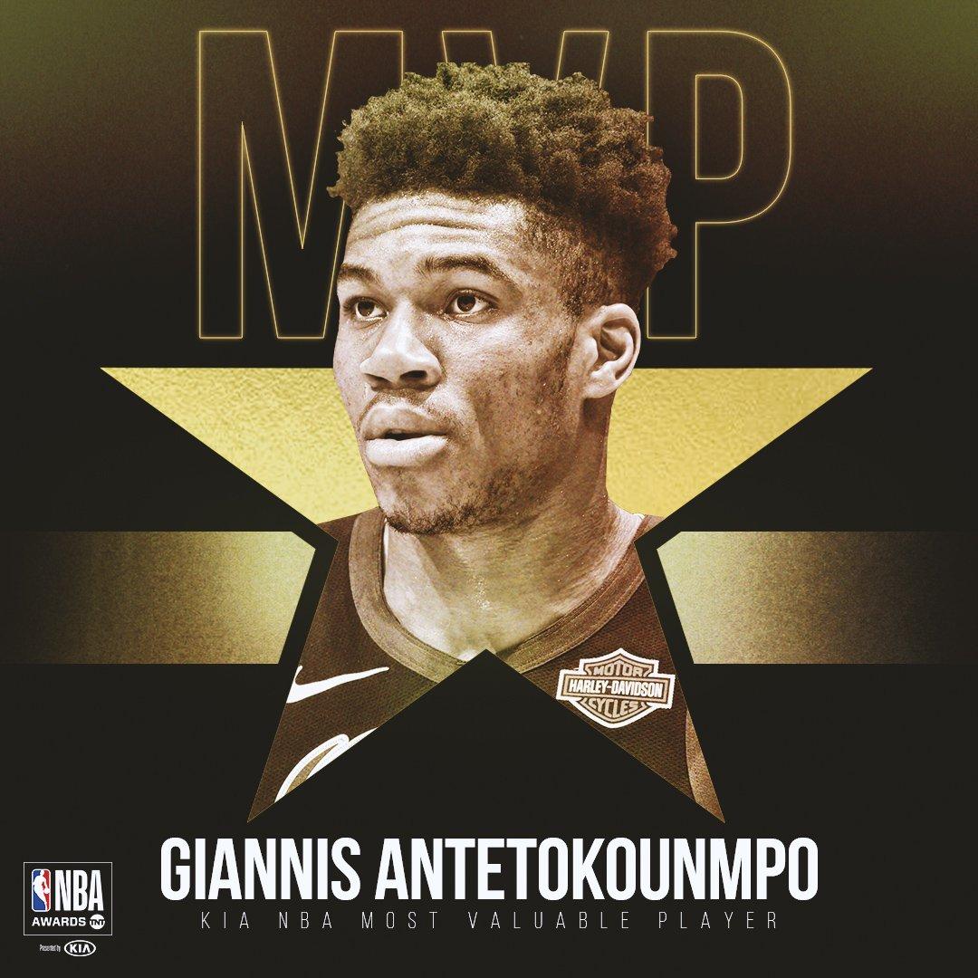 恭喜!阿德托昆博当选2018-19赛季常规赛MVP