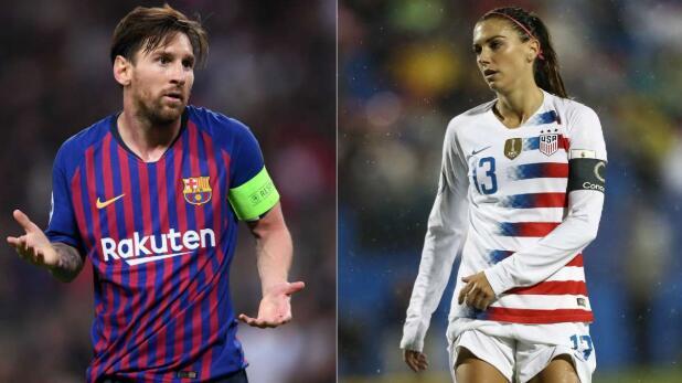 联合国:梅西一人薪水是7大联赛所有女足球员薪水的两倍
