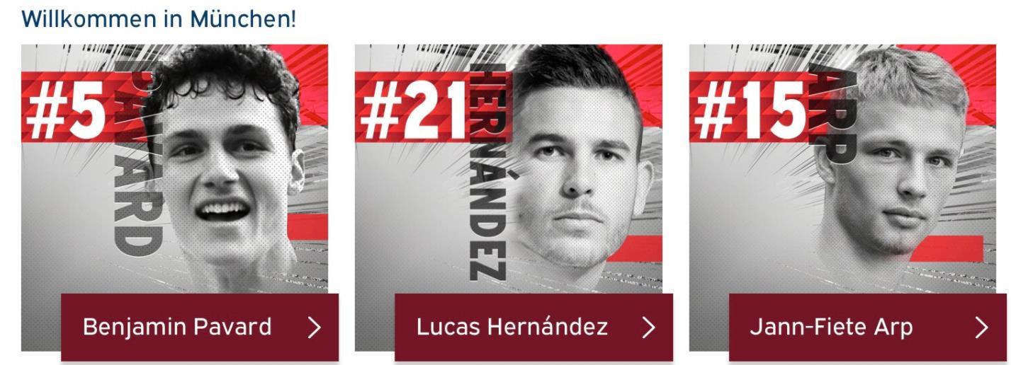拜仁公布新援球衣号:卢卡斯21号,帕瓦尔5号