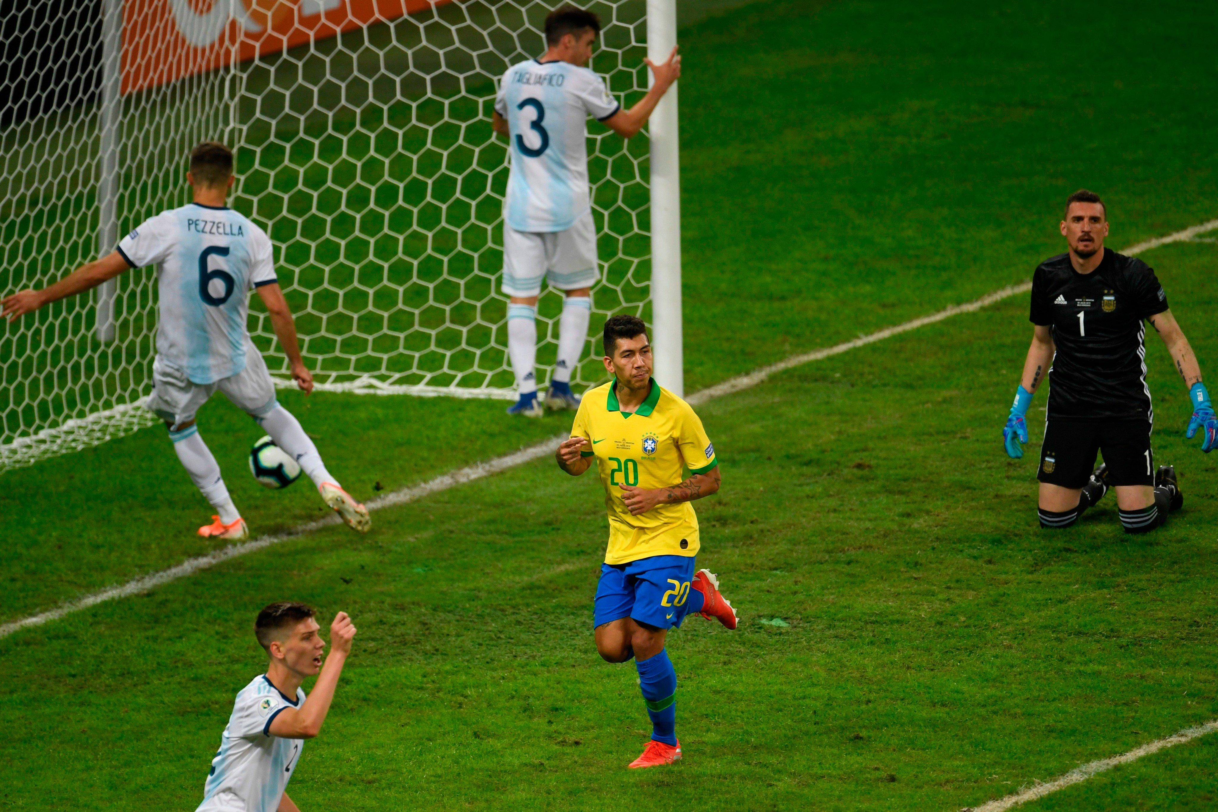 2球 3, 菲尔米诺直接参与巴西本届美洲杯半数进球