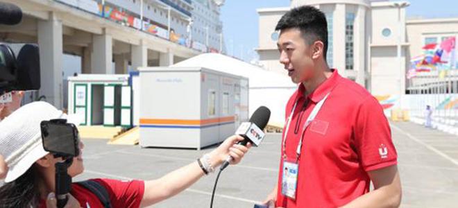 王少杰:任大运会旗手是我的荣幸,  CBA中最喜欢联哥